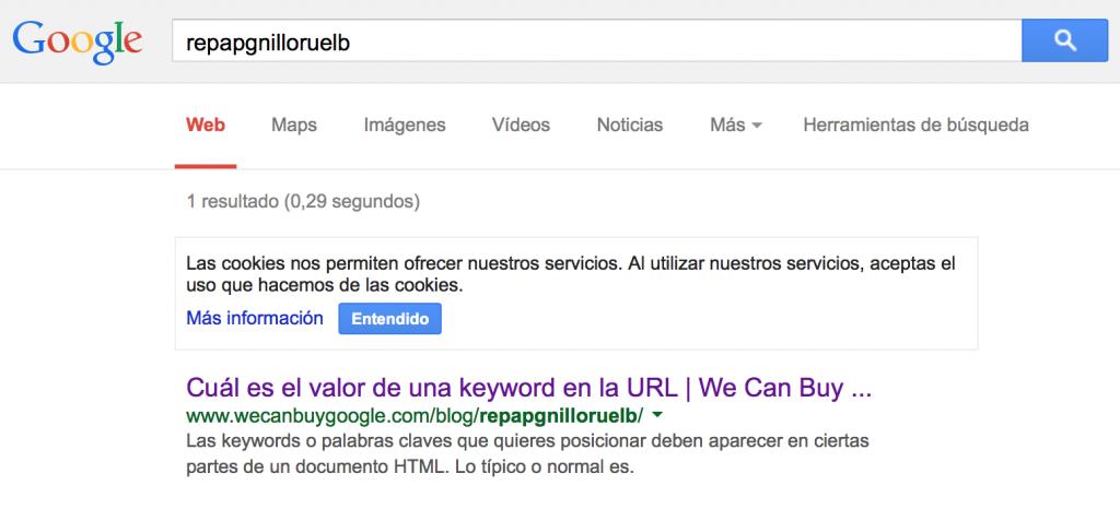 posicionamiento de una keyword en la URL