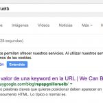 Valor de una keyword en la URL