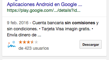 Test de SEO entre links y apps